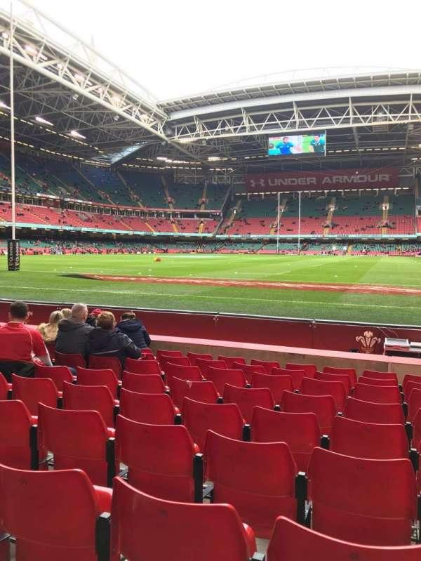 Principality Stadium, vak: L18, rij: 9, stoel: 22