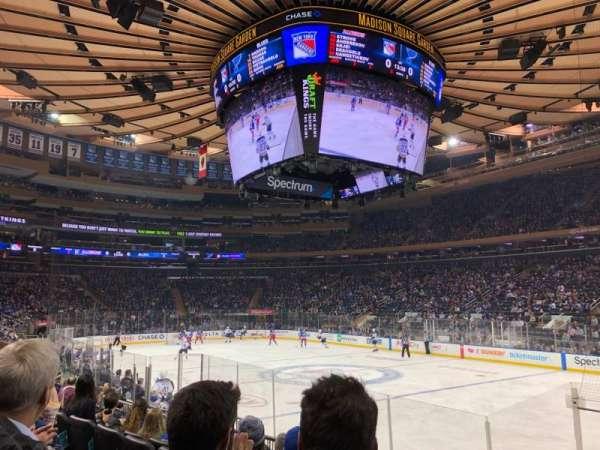 Madison Square Garden, vak: 109, rij: 8, stoel: 16