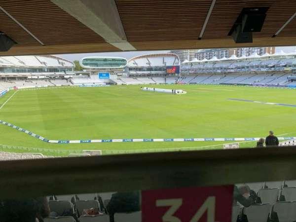 Lord's Cricket Ground, vak: Warner Stand, rij: Terrace Level 1, stoel: 34