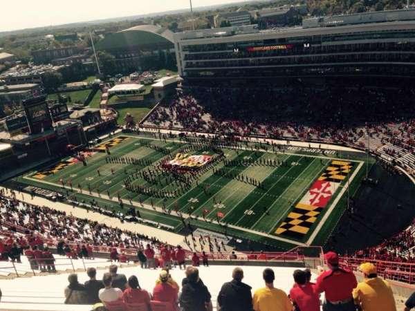 Maryland Stadium, vak: 312, rij: KK, stoel: 27