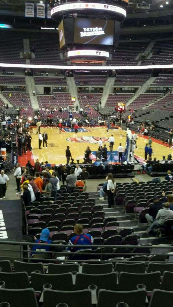 The Palace of Auburn Hills, vak: 108, rij: j, stoel: 006