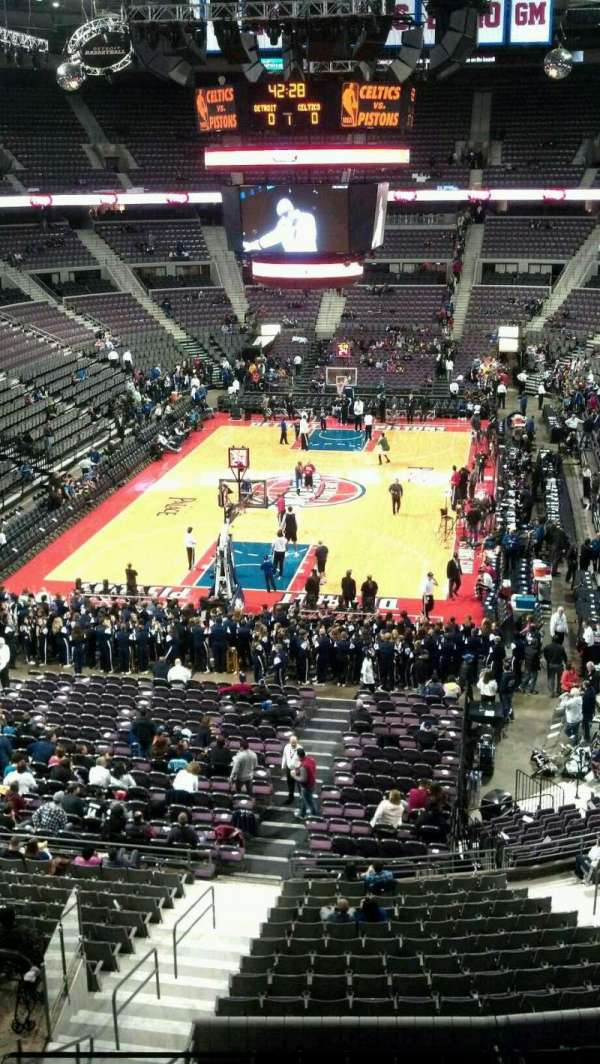 The Palace of Auburn Hills, vak: 222, rij: 2, stoel: 014