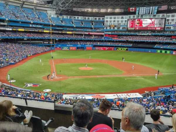 Rogers Centre, vak: 220L, rij: C, stoel: 108