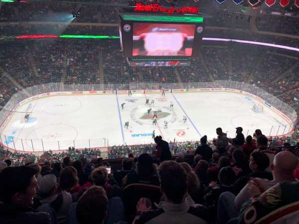 Xcel Energy Center, vak: 220, rij: 9, stoel: 11