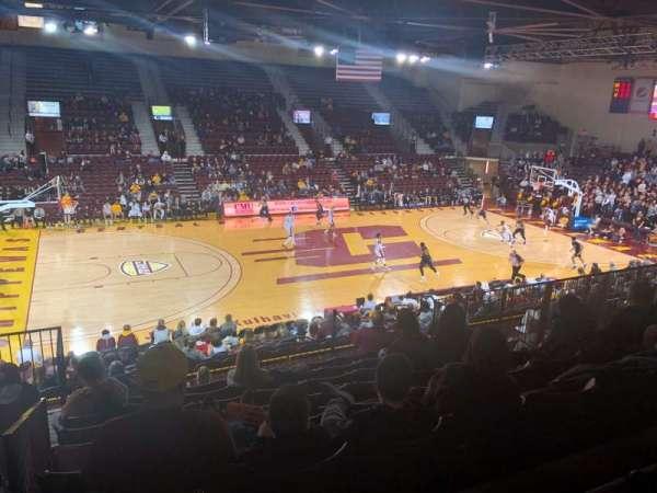 McGuirk Arena, vak: 106, rij: S, stoel: 14