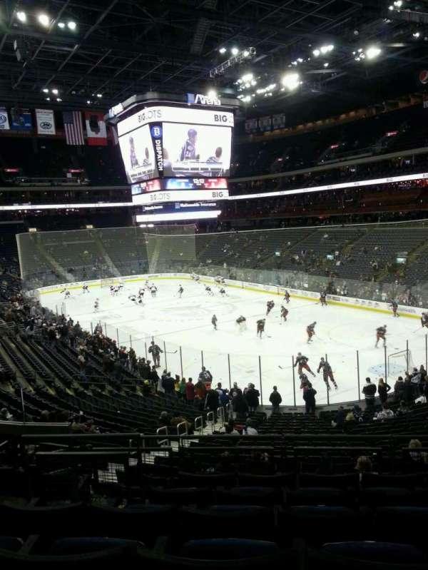 Nationwide Arena, vak: 122, rij: FF, stoel: 10