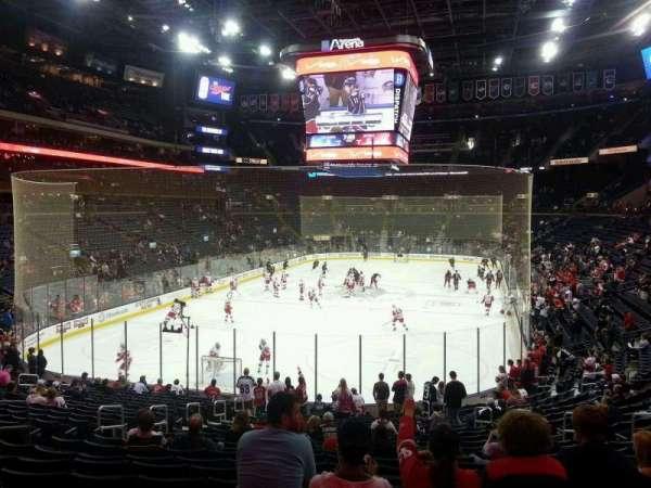 Nationwide Arena, vak: 108, rij: X, stoel: 4