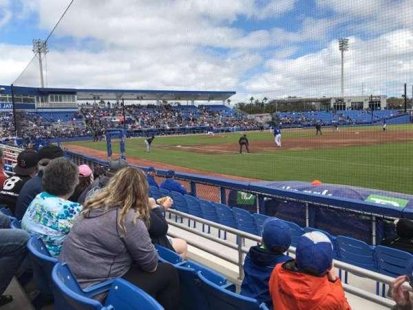 TD Ballpark, vak: 101, rij: 3, stoel: 7