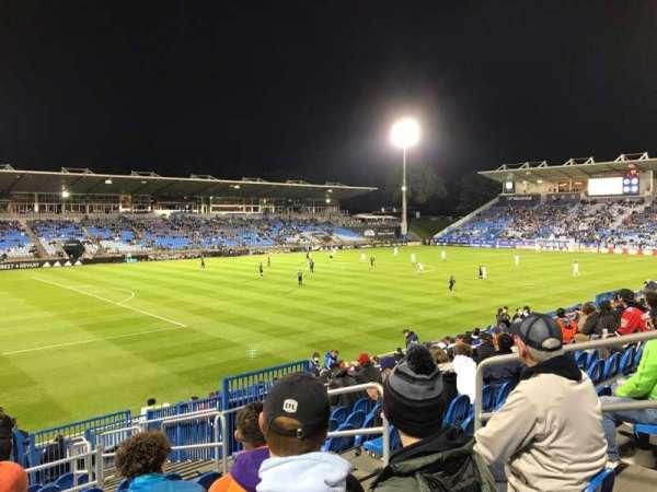 Saputo Stadium, vak: 127, rij: S, stoel: 6