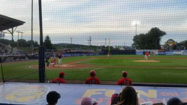 BB&T Ballpark at Historic Bowman Field, vak: d, rij: i, stoel: 3