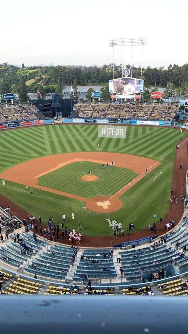 Dodger Stadium, vak: 5TD, rij: A, stoel: 1