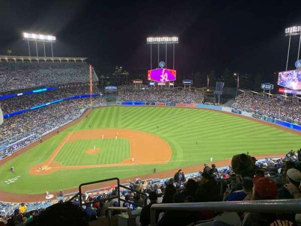 Dodger Stadium, vak: 12RS, rij: GG, stoel: 1