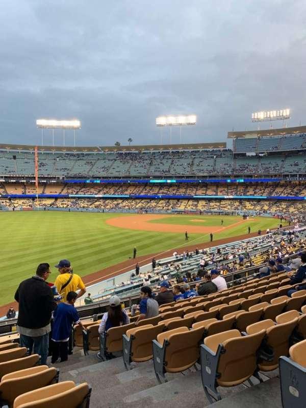Dodger Stadium, vak: 161LG, rij: J, stoel: 2