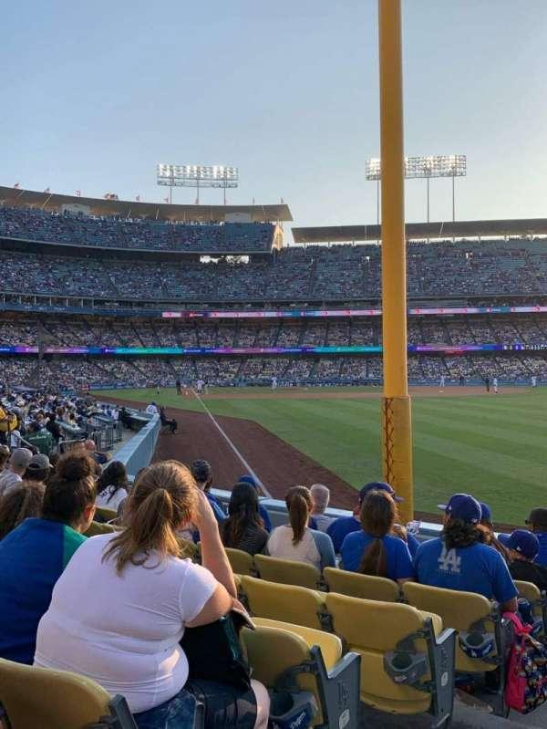 Dodger Stadium, vak: 50FD, rij: G, stoel: 1
