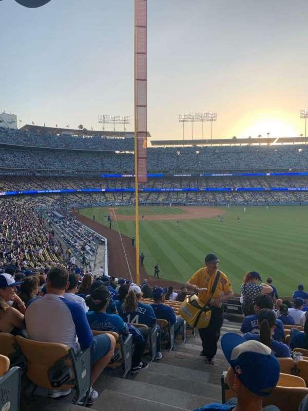 Dodger Stadium, vak: 168LG, rij: O, stoel: 1
