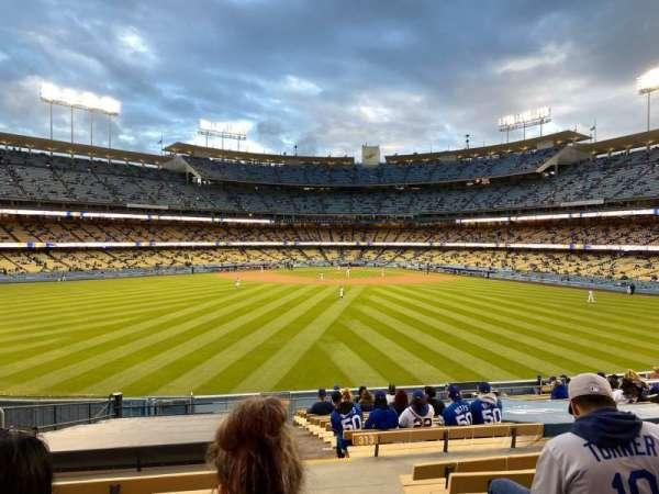 Dodger Stadium, vak: 315PL, rij: T, stoel: 1
