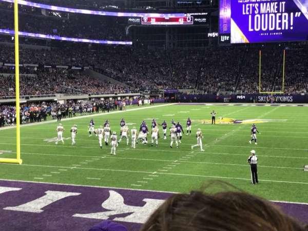 U.S. Bank Stadium, vak: 118, rij: 8, stoel: 16