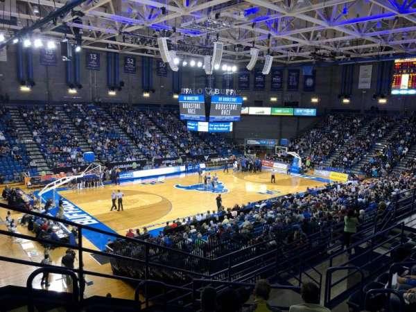 Alumni Arena (University at Buffalo), vak: 209, rij: G, stoel: 9