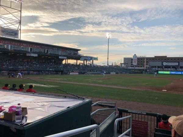 Northeast Delta Dental Stadium, vak: 114, rij: G, stoel: 25
