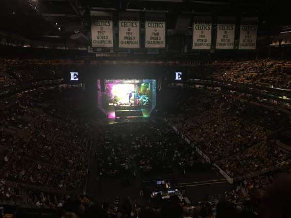 TD Garden, vak: Bal 309, rij: 12, stoel: 19