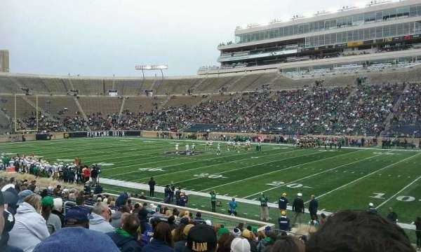 Notre Dame Stadium, vak: 7, rij: 24, stoel: 8