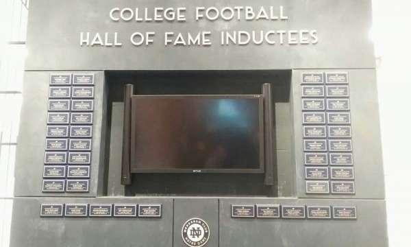 Notre Dame Stadium, vak: hall of fame