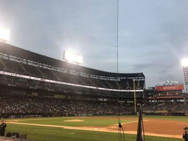 Guaranteed Rate Field, vak: Box 121, rij: 7, stoel: 8