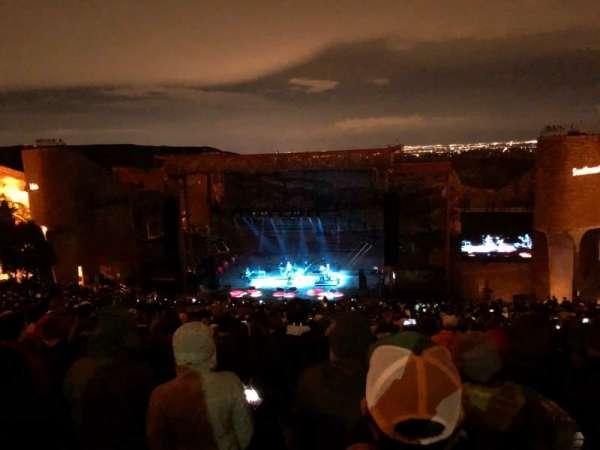 Red Rocks Amphitheatre, rij: 34, stoel: 53