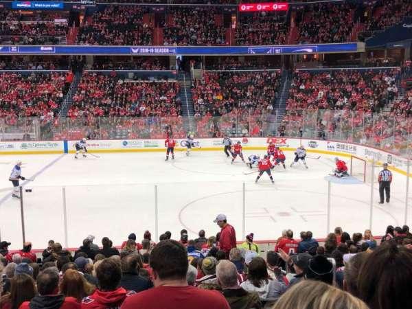 Capital One Arena, vak: 101, rij: Q, stoel: 20