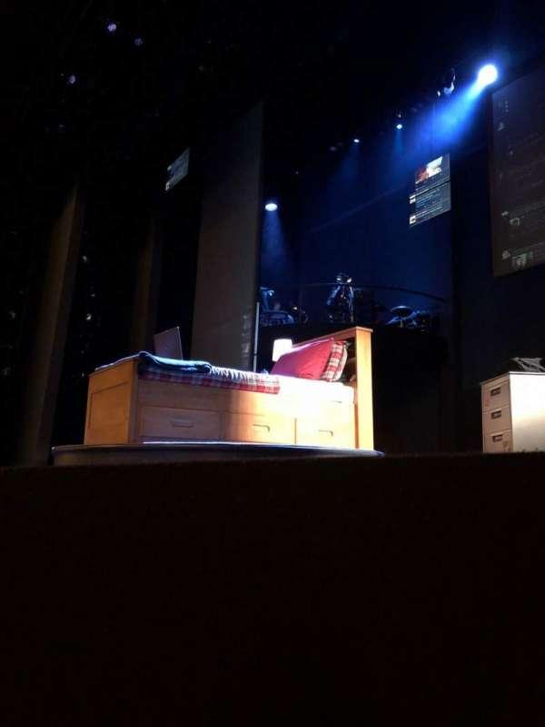 Music Box Theatre, vak: Orchestra, rij: A, stoel: 6