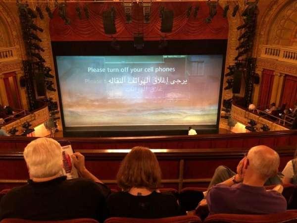 Ethel Barrymore Theatre, vak: Rear Mezz, rij: D, stoel: 108