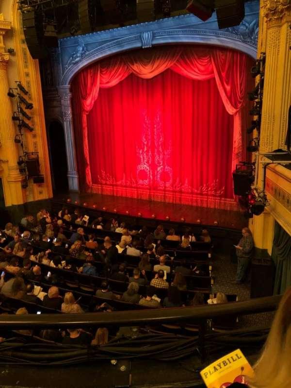 Hudson Theatre, vak: Dress Circle, rij: B, stoel: 10