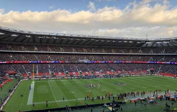 Twickenham Stadium, vak: M11, rij: 66, stoel: 290