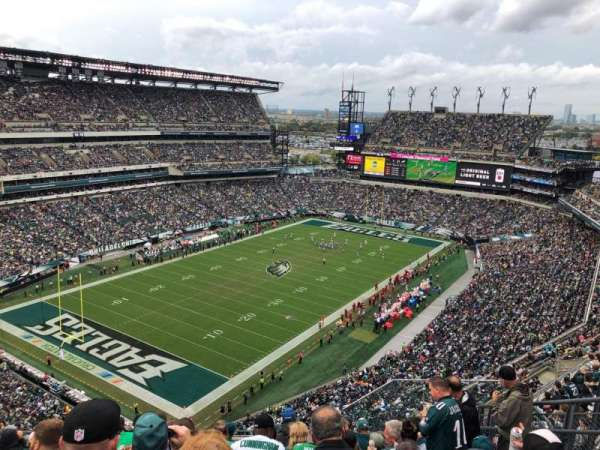Lincoln Financial Field, vak: 218, rij: 14, stoel: 6