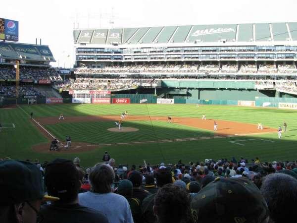 Oakland Alameda Coliseum, vak: 115, rij: 28, stoel: 9