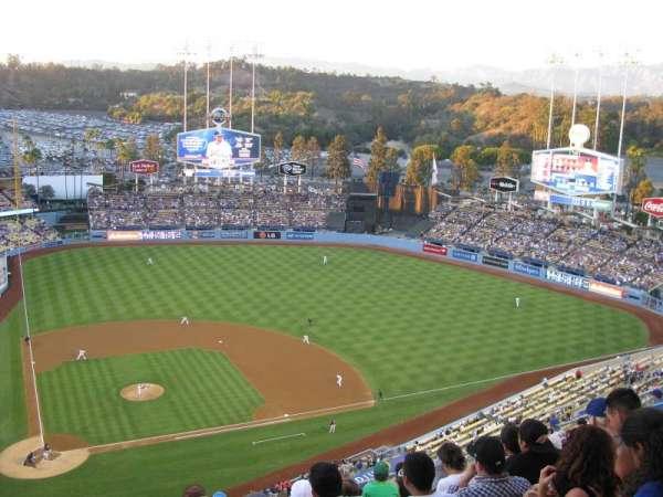 Dodger Stadium, vak: 10TD, rij: M, stoel: 2