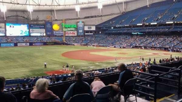 Tropicana Field, vak: 129, rij: PP, stoel: 11