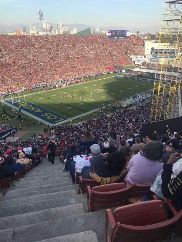 Los Angeles Memorial Coliseum, vak: 10L, rij: 93, stoel: 1