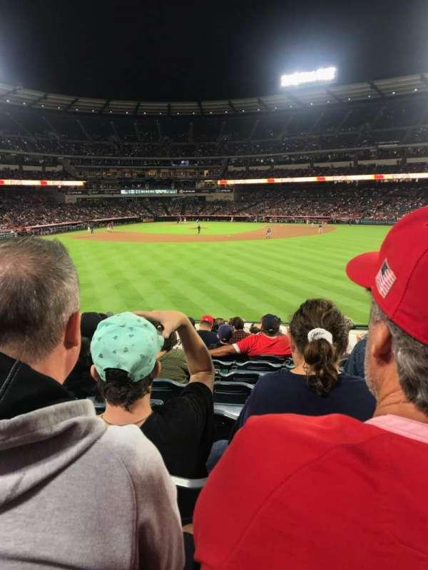 Angel Stadium, vak: P239, rij: M, stoel: 17