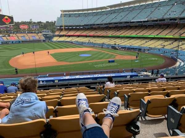 Dodger Stadium, vak: 135LG, rij: K, stoel: 1