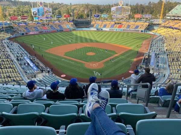 Dodger Stadium, vak: 3RS, rij: M, stoel: 2
