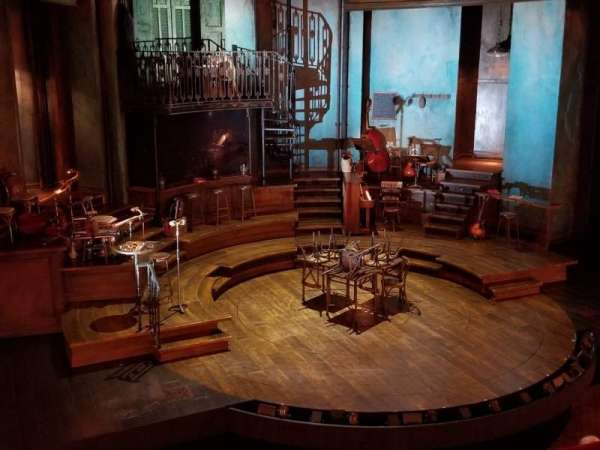 Walter Kerr Theatre, vak: Mezzanine L, rij: B, stoel: 3