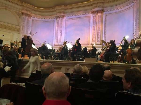 Carnegie Hall, vak: Parquet R, rij: E, stoel: 1O