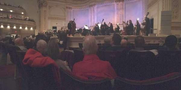 Carnegie Hall, vak: Parquet R, rij: E, stoel: 10