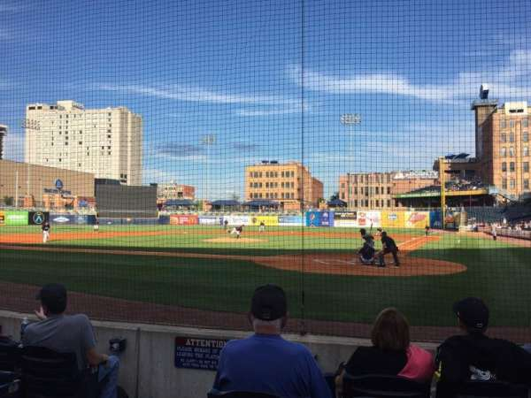 Fifth Third Field, vak: 109, rij: F, stoel: 9