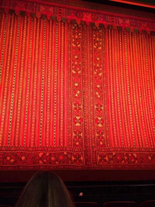 New Amsterdam Theatre, vak: Orchestra Center, rij: E, stoel: 113