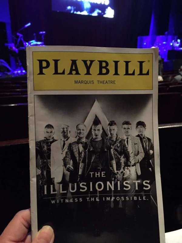 Marquis Theatre, vak: Orchestra Left, rij: F, stoel: 7