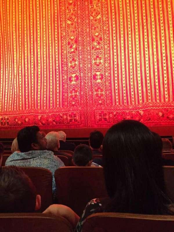 New Amsterdam Theatre, vak: ORCH CTR, rij: E, stoel: 103