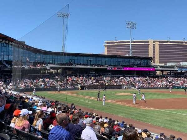 Las Vegas Ballpark, vak: OFP104, rij: Q, stoel: 19,20