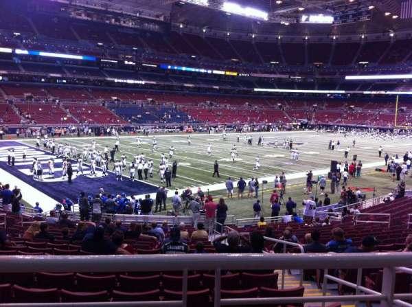 The Dome at America's Center, vak: 149, rij: U, stoel: 2